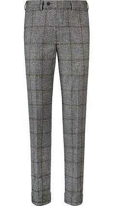 Pants Chinos Cargos and Mens Plaid Pants, Mens Slacks, Mens Dress Pants, Gentleman Mode, Gentleman Style, Tweed Trousers, Best Mens Fashion, Male Fashion, Gerry Weber