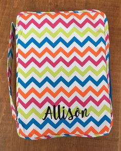 A personal favorite from my Etsy shop https://www.etsy.com/listing/269427795/personalized-chevron-bible-covers-bible