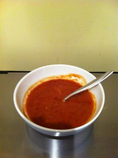@maplemooh made our Roasted Tomato Soup, from the October issue of Clean Eating. Looks fab!