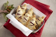Berry hand pies in the shape of christmas trees