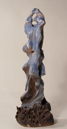 Figure Series,  L Size: 30x11x13.5 HxBxWcm Sculptures, Lion Sculpture, Ceramic Figures, Ceramics, Statue, Gallery, Wood, Glass, Animals