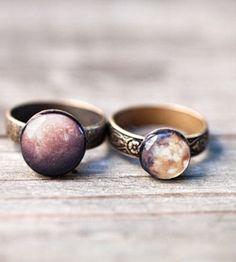 Mars & Mercury stackable rings
