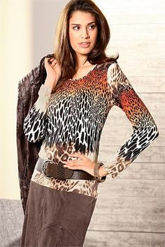 Women's Tops - Capture European Print Top