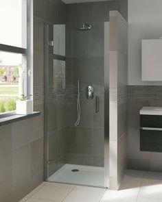 Module draaideur in nis Bathroom Inspiration, Master Bathroom, Bathtub, Shower, Mirror, Furniture, Home Decor, Module, Bathrooms
