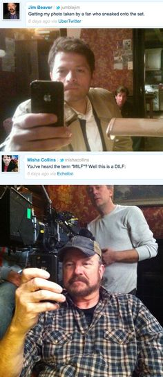 Jim Beaver & Misha Collins - This is why I love these actors.