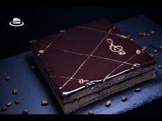 Prajitura Opera / Opera Cake (ENG. SUB.) - YouTube Opera Cake, Chocolate Ganache, Meringue, Macarons, Tiramisu, Desserts, Youtube, Food, Merengue