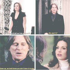 Classic Rumple and Regina. Always at each other's throats 😁
