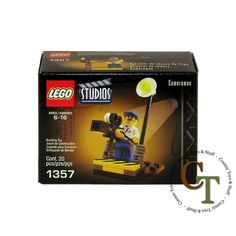 LEGO 1357 Studios Cameraman (worn box)  --  Currently Available for purchase on eCRATER.com
