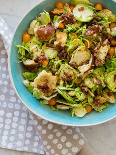 Shaved Brussels Sprouts Salad | Salad recipe | Spoon Fork Bacon