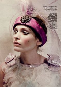 Heidi Mount for Vogue Russia, May 2010.  Photographed by Paolo Roversi.