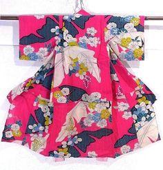hot pink girl's kimono