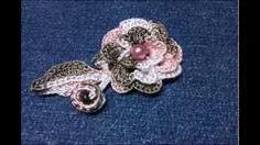 crochet roses - YouTube