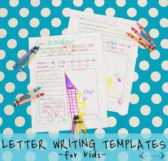 Free printable letter template with writing prompts for kids writing home from summer camp, grandparents, or pen pals. These templates include writing prompts that cover the things like what you ma… Letter Template For Kids, Free Printable Letter Templates, Christmas Letter Template, Letter Writing Template, Printable Letters, Free Printables, Writing Letters, Camp Letters, Pen Pal Letters