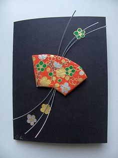 washi fan card (mizu
