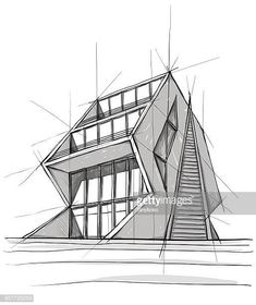 View top quality illustrations of Architecture. Architecture Drawing Sketchbooks, Architecture Concept Drawings, Plans Architecture, Pavilion Architecture, Architecture Design, Interior Architecture Drawing, Victorian Architecture, Residential Architecture, Portfolio D'architecture