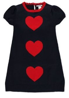 Hartstrings  Heart Sweater Dress Girls 4-6x