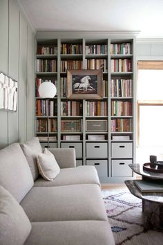 Ikea Bookshelves Built In . Ikea Bookshelves Built In . Ikea Built Ins for Family Room Ikea Billy Bookcase Hack, Bookshelves Built In, Billy Bookcases, Bookshelf Wall, Ikea Billy Hack, Billy Bookcase Office, Built In Wall Shelves, Floor To Ceiling Bookshelves, Custom Bookshelves