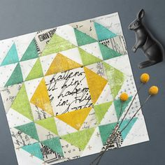Announcing Zen Chic's Upcoming BOM And Blockheads 2018 - Block 23 and Block 24 Sampler Quilts, Scrappy Quilts, Mini Quilts, Modern Quilt Blocks, Quilt Block Patterns, Block Quilt, Half Square Triangle Quilts, Square Quilt, Quilting Projects