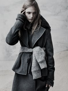 Style - Minimal + Classic: Sasha Pivovarova by Josh Olins for The Last Magazine Fall 2013