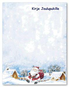 Kirje joulupukille - tulostettavia kirjepohjia Vintage Pictures, Diy And Crafts, School, Winter, Christmas, Kids, Painting, Winter Time, Xmas