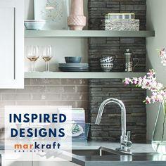 Markraft Cabinets, Inc offers custom cabinet design and installs for kitchens and baths. Grey Kitchens, Custom Cabinets, Cabinet Design, Kitchen And Bath, Home Remodeling, Floating Shelves, Countertops, Kitchen Remodel, Kitchen Design