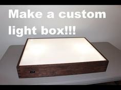 In this video Andy Glass with Glass Impressions will show you how to build a light box. This light box is great for tracing, stencil work, and weeding vinyl . Diy Light Table, Diy Table, Diy Light Box, Light Box For Tracing, Diy Luz, Photo Light Box, Inkscape Tutorials, Licht Box, Stained Glass Light