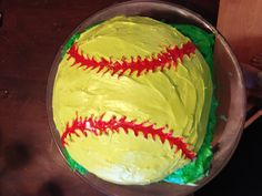 Softball cake for my step-daughter