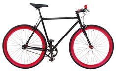 Vilano Rampage Fixed Gear Fixie Single Speed Road Bike, Black/Red, Medium/54cm http://coolbike.us/product/vilano-rampage-fixed-gear-fixie-single-speed-road-bike-blackred-medium54cm/