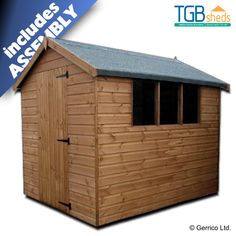 Tgb Standard Apex Shed Lowest Uk Price Free Delivery Assembly Our