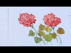 Pintura em tela - Iniciantes - Aula 6 - Como pintar gerâneos - YouTube