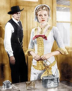 Gary Cooper and Grace Kelly in High Noon ,directed by Fred Zinnemann - 1952