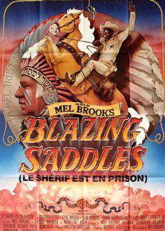 Blazing Saddles (1974) Original French Grande Movie Poster