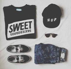 чёрно-белое, синий, одежда, мода, гранж, хипстер, наряды, приятное, стиль, ле