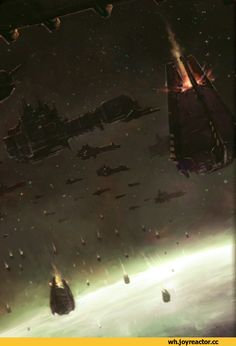 Space Marines, with that many, it's likely multiple companies or multiple chapters, assaulting a planet. When there's that many it usually means that the Astartes are purging a planet, or responding to a crisis
