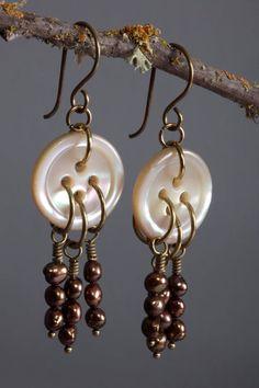 Gift Bag Art Deco Real Rock Earrings Gold Geode Long Dangle Drop Earrings Elegant Copper Colored Hooks Sparkly Easter Gift