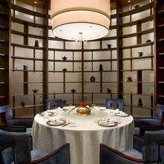 private dining room- round table and display