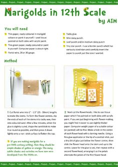 AIM IMag issue Scroll down to a 4 pg tutorial starting on page Great instructions! Miniture Dollhouse, Diy Dollhouse, Dollhouse Miniatures, Barbie Miniatures, Dollhouse Tutorials, Miniature Tutorials, Minis, Miniature Plants, Miniature Gardens