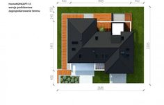 Projekt domu z poddaszem HomeKoncept 13 - Usytuowanie Beautiful House Plans, Beautiful Homes, House Entrance, Design Case, My House, Projects To Try, Sweet Home, How To Plan, Type 3