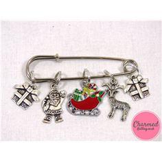 Santa and His Sleigh - Mixed Knitting Stitch Marker Set