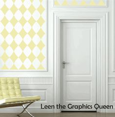 Diamond Vinyl Wall Decal in gray on accent wall in great room?