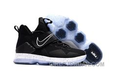 low priced e7870 21155 Nike LeBron 14 SBR Black White Cheap To Buy