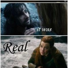 IT WAS REAL! IT WAS REAL!  #TaurielKili4Ever