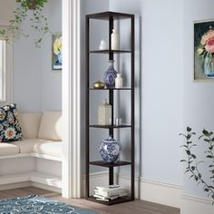 Save An Extra Off on Archibald Corner Unit Bookcase Andover Mills - Good price living room furniture Small Storage Shelves, Corner Storage, Corner Shelves, Storage Ideas, Shelving Ideas, Shelf Ideas, Kitchen Storage, Bedroom Furniture Redo, Living Room Furniture