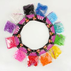 JINSE Normal color rubber band loom bands 600 pcs + 12 S clip + 1 hook 12 colors available  LBD002