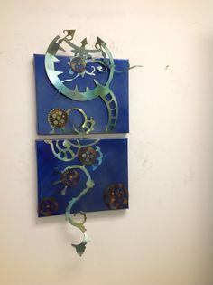 Clock Works Metal Wall Art Item 12813 by MetalArtStore on Etsy, $44.95