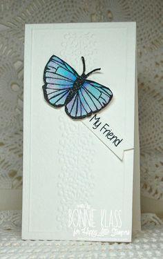 tall butterfly friend card by Bonnie Klass