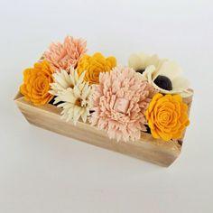 Войлок цветок коробка TheFeltFlowerShop на Etsy