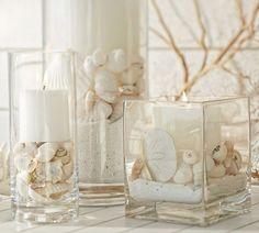 Bad dekorieren  glas vasen rund sand muscheln deko | Deko | Pinterest | Muschel ...