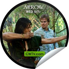 """Don't worry Oliver, girls love scars. You've unlocked the """"Damaged"""" sticker! Thanks for watching on CWTV.com. Share this one proudly. It's from our friends at The CW."""