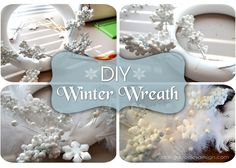 Make a Winter white wreath